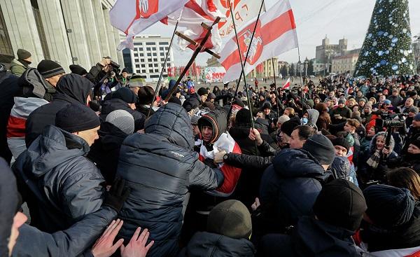 მინსკში რუსეთთან ინტეგრაციის საწინააღმდეგო საპროტესტო აქცია გაიმართა