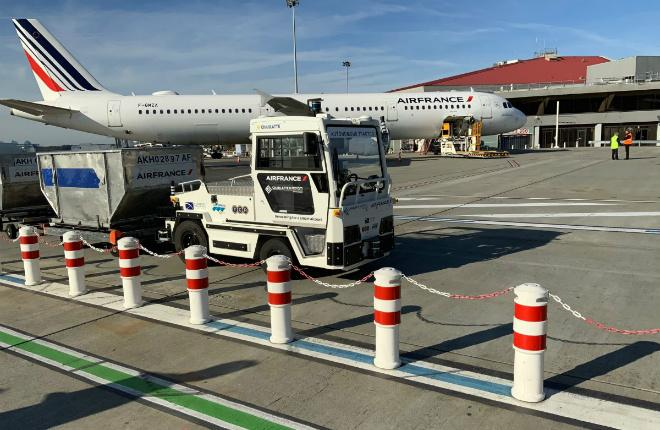 Air France- მა ბარგის უპილოტოტრაქტორის ტესტირება დაიწყო (ვიდეო)