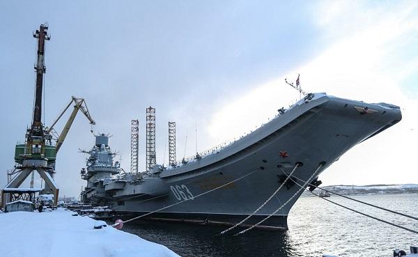 """იწვის რუსეთის ფლოტის ერთადერთი ავიაგადამზიდი """"ადმირალი კუზნეცოვი"""""""
