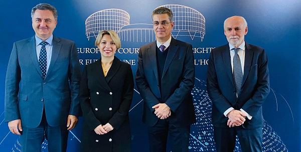 ნინო ლომჯარია ადამიანის უფლებათა ევროპული სასამართლოს პრეზიდენტს შეხვდა