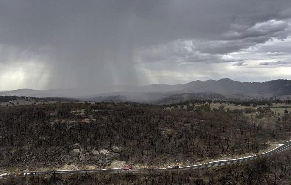 ავსტრალიაში, სადაც ხანძრის რამდენიმე კერაა, გაწვიმდა