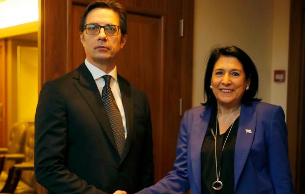 სალომე ზურაბიშვილი ჩრდილოეთ მაკედონიის პრეზიდენტს სტევო პენდაროვსკის შეხვდა