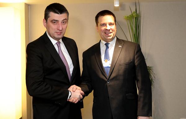 გიორგი გახარია დავოსში ესტონეთის პრემიერ-მინისტრს შეხვდა