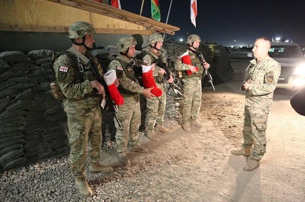 ქართველმა მშვიდობისმყოფელებმა ახალი, 2020 წლის დადგომა ავღანეთში, ბაგრამის საავიაციო ბაზაზე აღნიშნეს