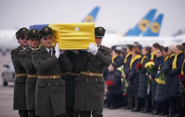 კიევში პატივი მიაგეს თეირანში ავიაკატასტროფაში დაღუპულთა ცხედრებს