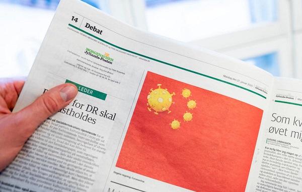 ჩინეთი დანიურ გაზეთში გამოქვეყნებული კორონავირუსის კარიკატურის გამო აღშფოთებულია