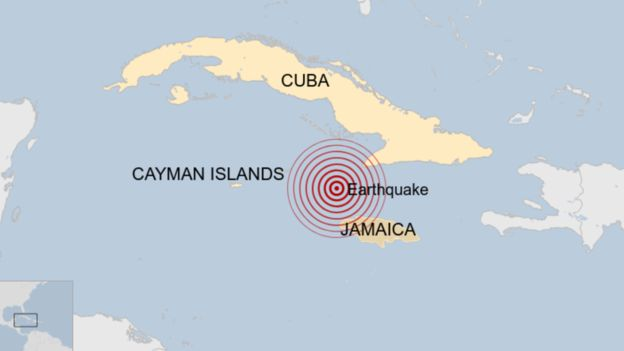 7.7 მაგნიტუდის სიმძლავრის მიწისძვრა კუბასა და იამაიკას შორის მოხდა