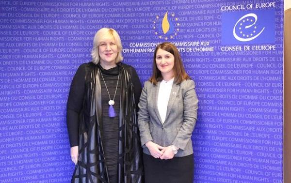 სახელმწიფო ინსპექტორი ლონდა თოლორაია ევროპის საბჭოს ადამიანის უფლებათა დაცვის კომისარს დუნია მიატოვიჩს შეხვდა