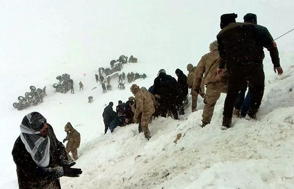 თურქეთში ზვავის ჩამოწოლას 33 ადამიანი ემსხვერპლა