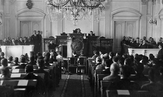 1919 წლის 14-17 თებერვალს საქართველოს დამფუძნებელი კრების არჩევნები გაიმართა