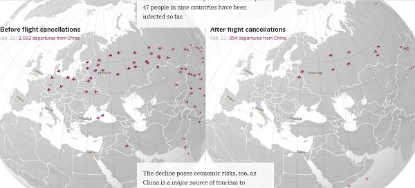 13,000გაუქმებულიფრენა: კორონავირუსის გლობალური შედეგები