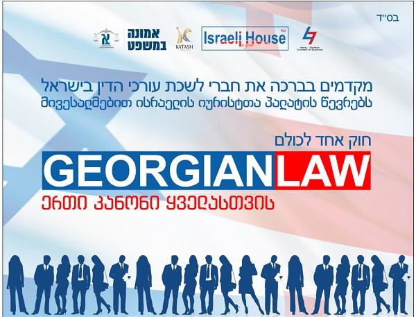 100 ისრაელელი იურისტი საქართველოს ბიზნესკანონმდებლობას გაეცნობა