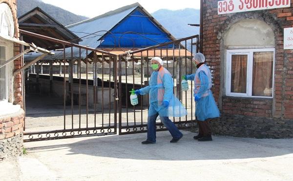 ბაღდათის მუნიციპალიტეტში სასურსათო მაღაზიებს, აფთიაქებსა და საჯარო დაწესებულებებს სადეზინფექციო სამუშაოები ჩაუტარდა