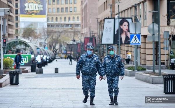 სომხეთში კორონავირუსით 6 პოლიციელი დაინფიცირდა
