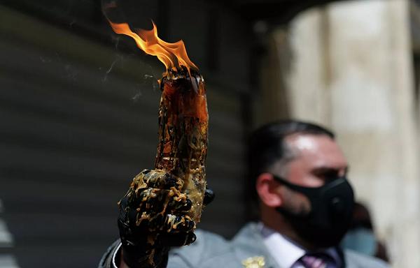 იერუსალიმში წმინდა ცეცხლის გარდამოსვლის რიტუალი შესრულდა