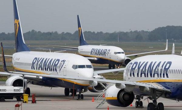 Ryanair-ი საქართველოს მიმართულებით ფრენებს 1-ელი ივლისიდანვე აღადგენს