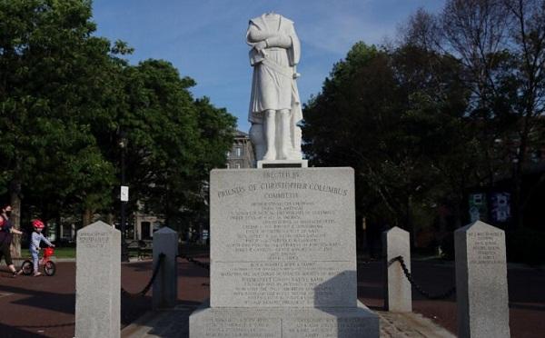 ბოსტონში ქრისტეფორე კოლუმბის ძეგლს თავი მოტეხეს