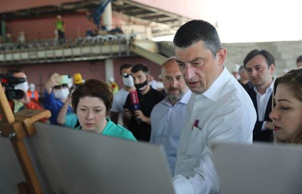 პრემიერ-მინისტრი ქუთაისის საერთაშორისო აეროპორტში ახალი ტერმინალის მშენებლობის პროცესს გაეცნო