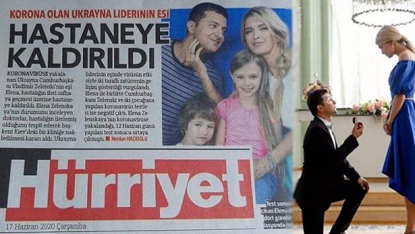 გაზეთმა Hurriyet-მავოლოდიმირ ზელენსკი და ვერა ბრეჟნევა