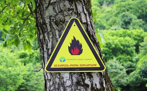 ტყეში ხანძრის გამომწვევი ძირითადი მიზეზი ადამიანის დაუდევრობაა - დაიცავით უსაფრთხოების წესები