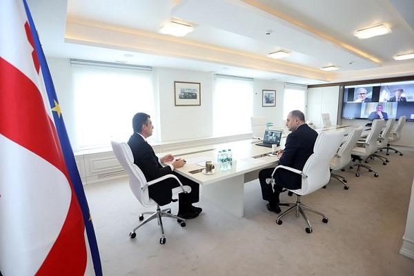 პრემიერ-მინისტრი ევროკომისიის სამეზობლო პოლიტიკისა და გაფართოების საკითხებში გენერალურ დირექტორს ვიდეოკონფერენციის ფორმატში ესაუბრა