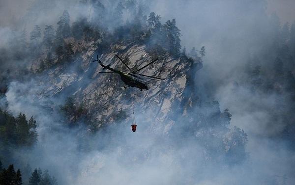 სოფელ ხაიშთან, ტყის მასივში გაჩენილი ხანძრის ქრობის სამუშაოები უწყვეტ რეჟიმში მიმდინარეობს