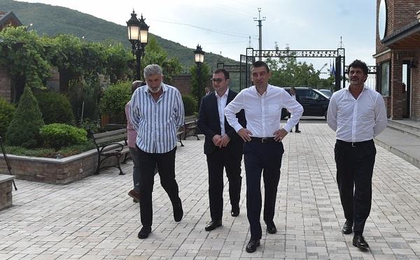 """""""ქართული ოცნების"""" ლიდერებმა კარდენახში, სასტუმრო """"ამპელო"""" დაათვალიერეს"""