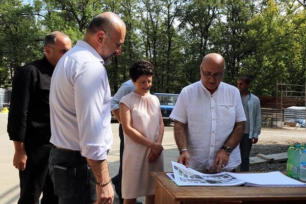 იუსტიციის მინისტრმა წყალტუბოში იუსტიციის სახლის მშენებლობა დაათვალიერა