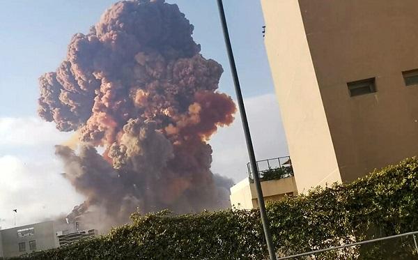 ლიბანის დედაქალაქ ბეირუთში ძლიერი აფეთქებას სულ მცირე ათი ადამიანი ემსხვერპლა