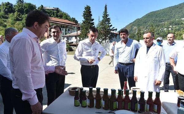 """""""ქართული ოცნების"""" ლიდერებმა ქედაში პროგრამის - """"აწარმოე საქართველოში"""" მხარდაჭერით შექმნილი ხილის გადამამუშავებელი საწარმო და ღვინის ქარხანა დაათვალიერეს"""