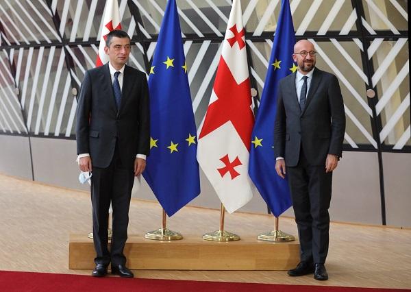 გიორგი გახარია ევროპული საბჭოს პრეზიდენტ შარლ მიშელს შეხვდა