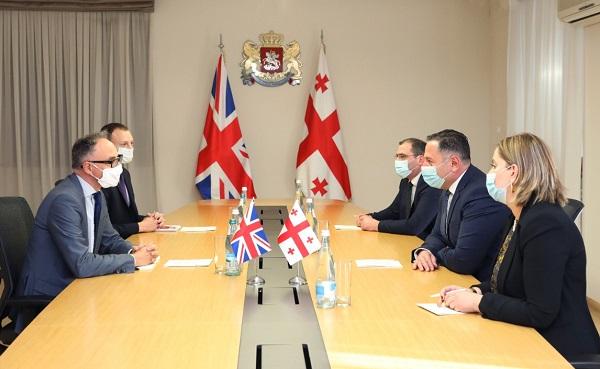 შინაგან საქმეთა მინისტრი გაერთიანებული სამეფოს ახლად დანიშნულ ელჩს შეხვდა