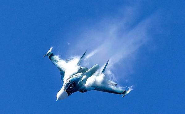 ხაბაროვსკში რუსული ბომბდამშენი Су-34 ჩამოვარდა