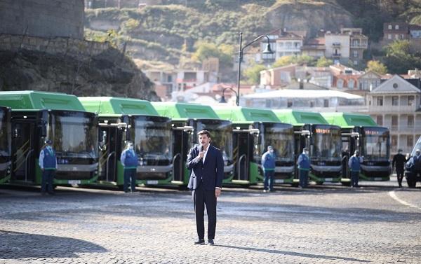 თბილისში BMC-ს მარკის ავტობუსების და FORD-ის მარკის მიკროავტობუსების პირველი ნაკადი შემოვიდა
