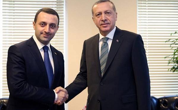 რეჯეფ თაიფ ერდოღანი ირაკლი ღარიბაშვილს პრემიერ-მინისტრის თანამდებობაზე დანიშვნას ულოცავს