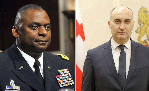 საქართველოს თავდაცვის მინისტრსა და აშშ-ის თავდაცვის მდივანს შორის სატელეფონო საუბარი შედგა