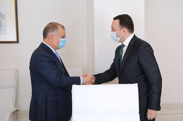 პრემიერ-მინისტრი აზერბაიჯანის სახელმწიფო უსაფრთხოების სამსახურის უფროსს შეხვდა