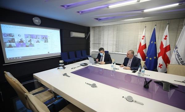 ფინანსთა მინისტრი ლაშა ხუციშვილი მსოფლიო ბანკის ვიცე-პრეზიდენტს შეხვდა