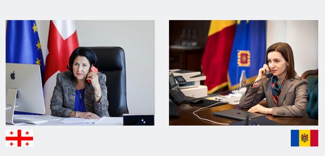 საქართველოსა და მოლდოვასპრეზიდენტებს შორის სატელეფონო საუბარი შედგა