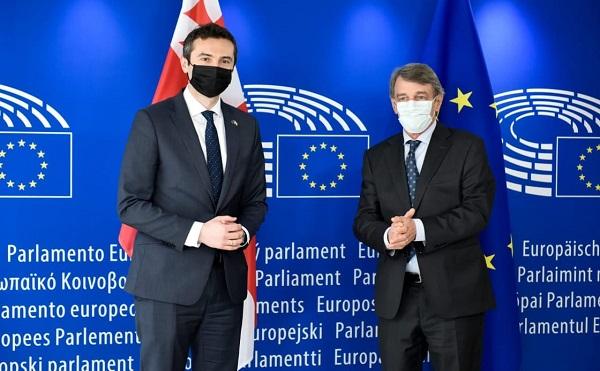 კახა კუჭავა ევროპარლამენტის პრეზიდენტს შეხვდა
