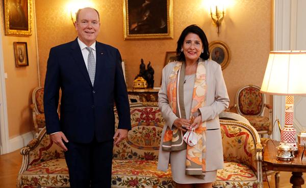 საქართველოს პრეზიდენტმა მონაკოს სამთავროს პრინცი საქართველოში მოიწვია