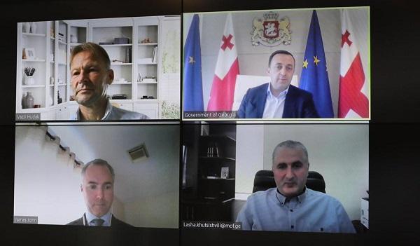 პრემიერ-მინისტრი საერთაშორისო სავალუტო ფონდის მისიის ხელმძღვანელს საქართველოში, ჯეიმს ჯონს შეხვდა