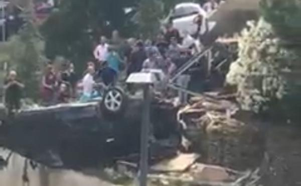 თბილისში კრწანისის ქუჩაზე ავარია მოხდა - არიან დაშავებულები