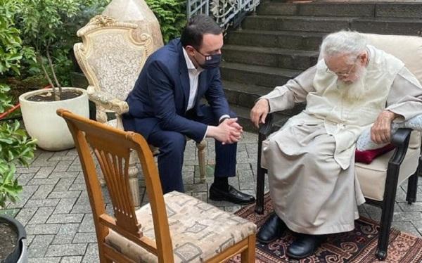 მოვისმინე მისი რჩევები და მოსაზრებები, რომელიც ყოველთვის გასათვალისწინებელია - ირაკლი ღარიბაშვილი პატრიარქს შეხვდა