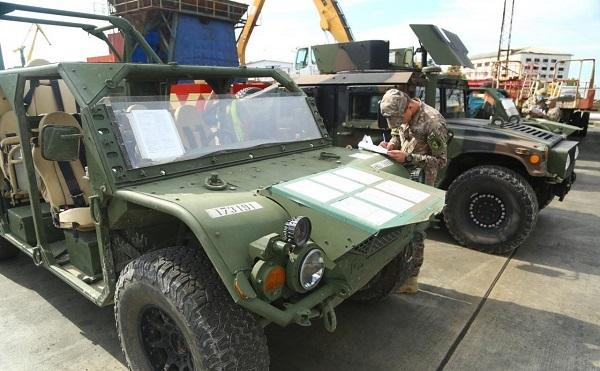 Agile Spirit 2021-ში მონაწილე ამერიკული სამხედრო ტექნიკა საქართველოშია