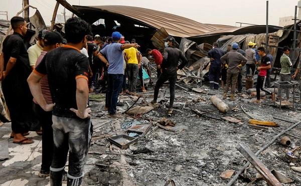 ერაყში, კოვიდკლინიკაში ხანძრის შედეგად დაღუპულთა რაოდენობა 92-მდე გაიზარდა