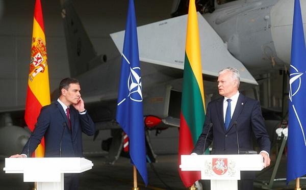 ესპანეთისა და ლიეტუვის ლიდერების პრესკონფერენციისას რუსულმა თვითმფრინავმა ბალტიის საჰაერო სივრცე დაარღვია