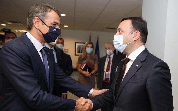 ირაკლი ღარიბაშვილი საბერძნეთის პრემიერ-მინისტრს შეხვდა