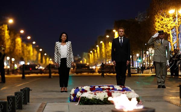 სალომე ზურაბიშვილმა და ემანუელ მაკრონმა საფრანგეთისთვის დაღუპულ მებრძოლთა ხსოვნას პატივი მიაგეს