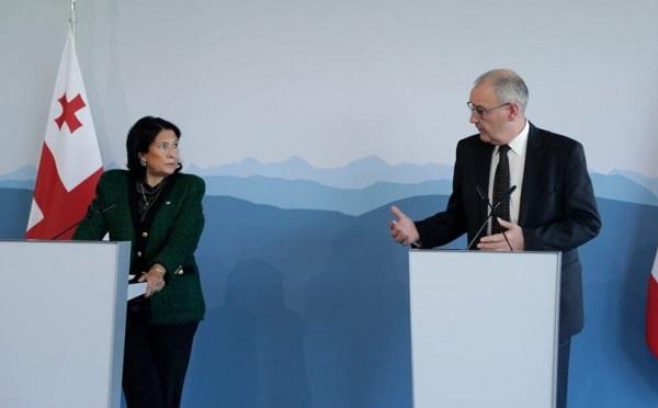 სალომე ზურაბიშვილი შვეიცარიის პრეზიდენტს შეხვდა